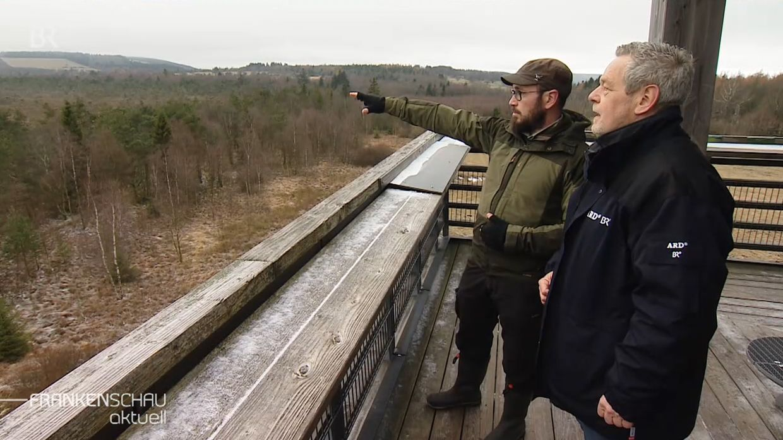 Albrecht Rauh (rechts) mit Tobias Gerlach (links) im Schwarzen Moor.