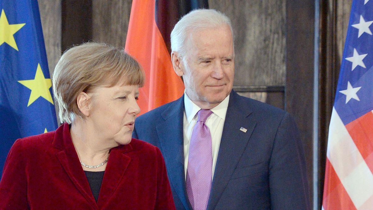 Angela Merkel und Joe Biden - damals noch US-Vizepräsident - im Jahr 2015
