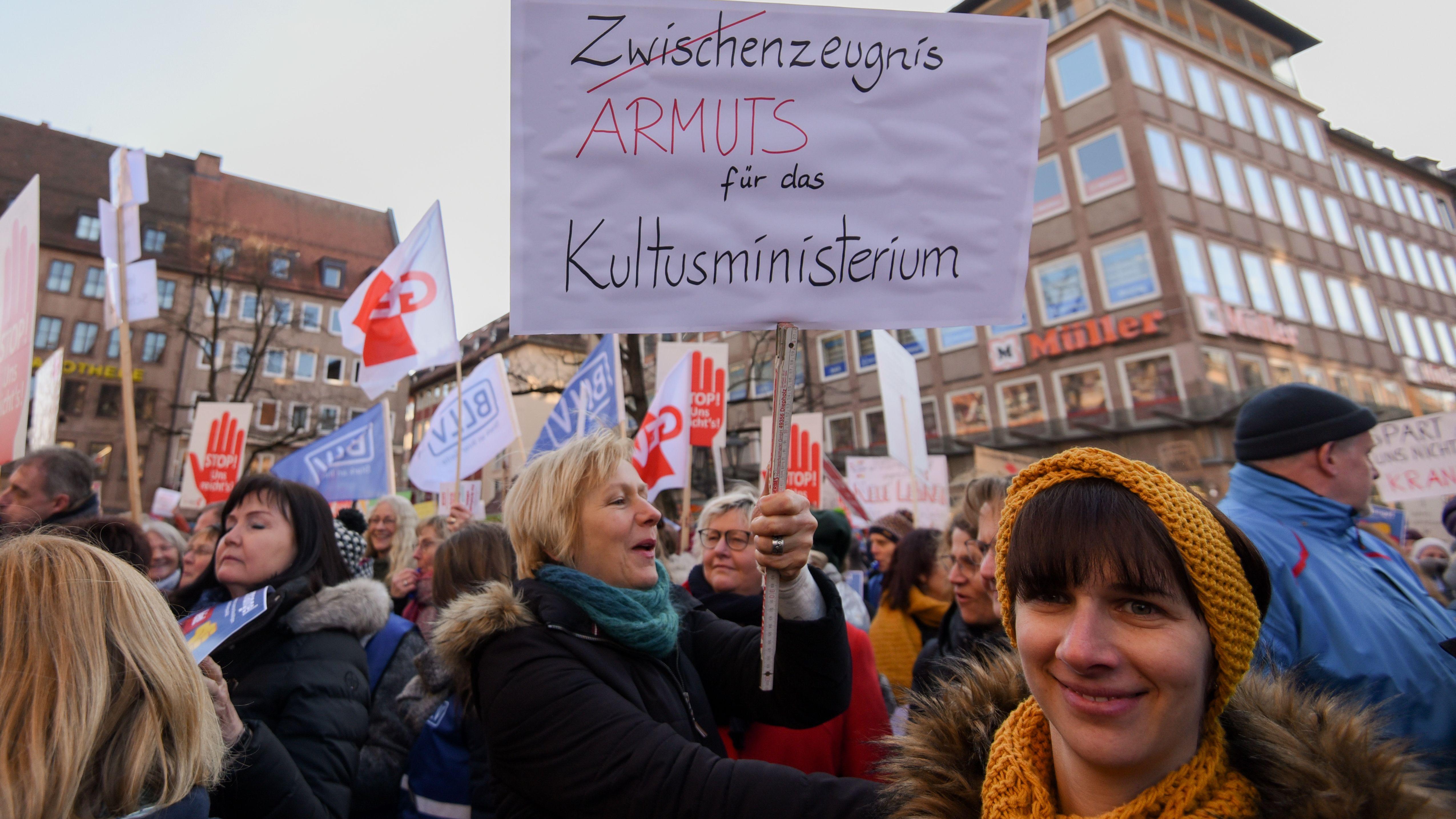 Lehrerproteste in Nürnberg am 07.02.2020