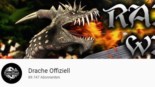 Screenshot des Youtube-Kanals des Drachenlords