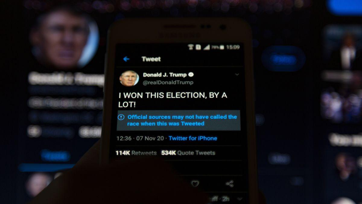 Tweet von Trump mit Warnhinweis