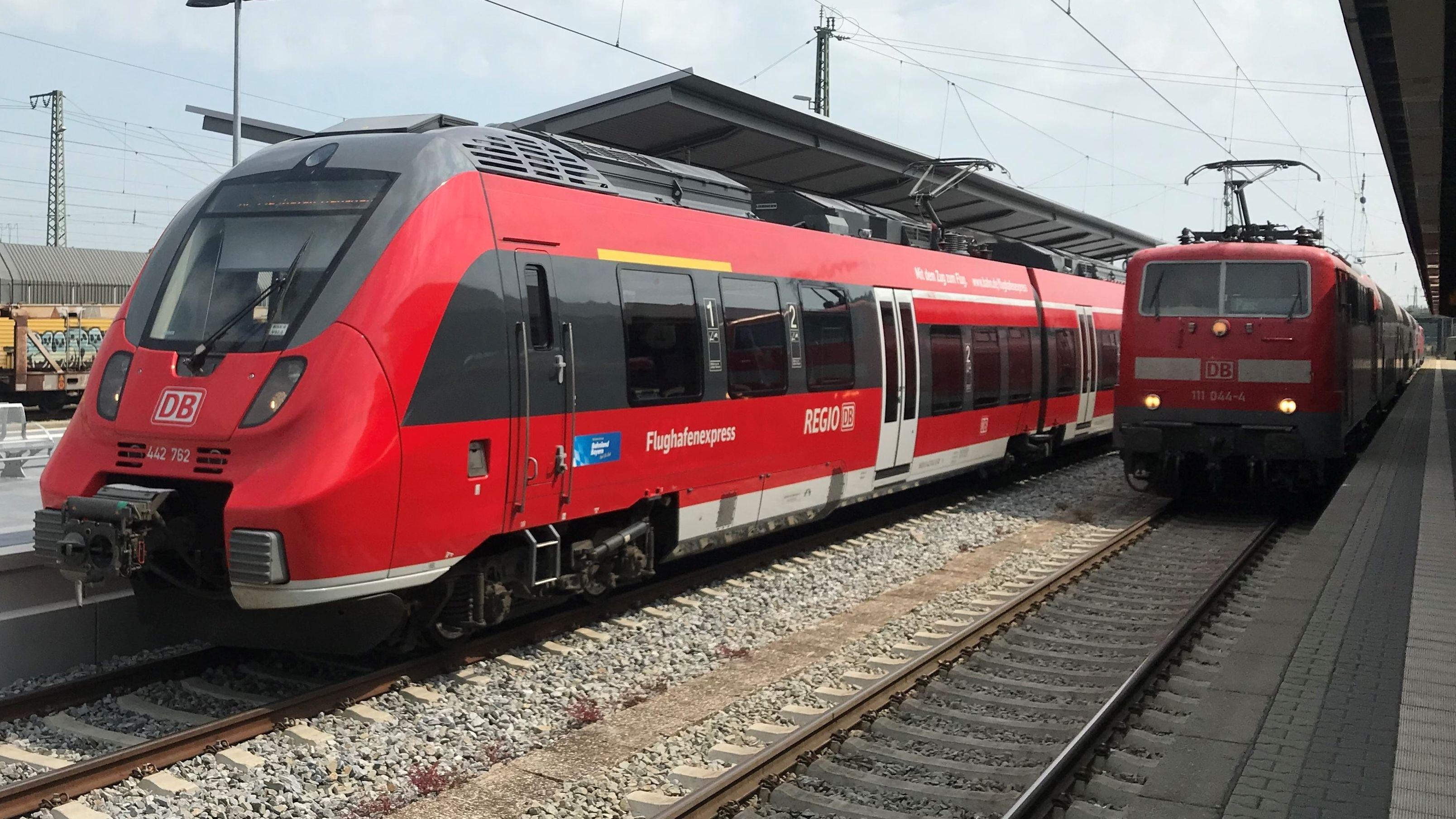 Der Flughafenexpress zum Münchner Airport