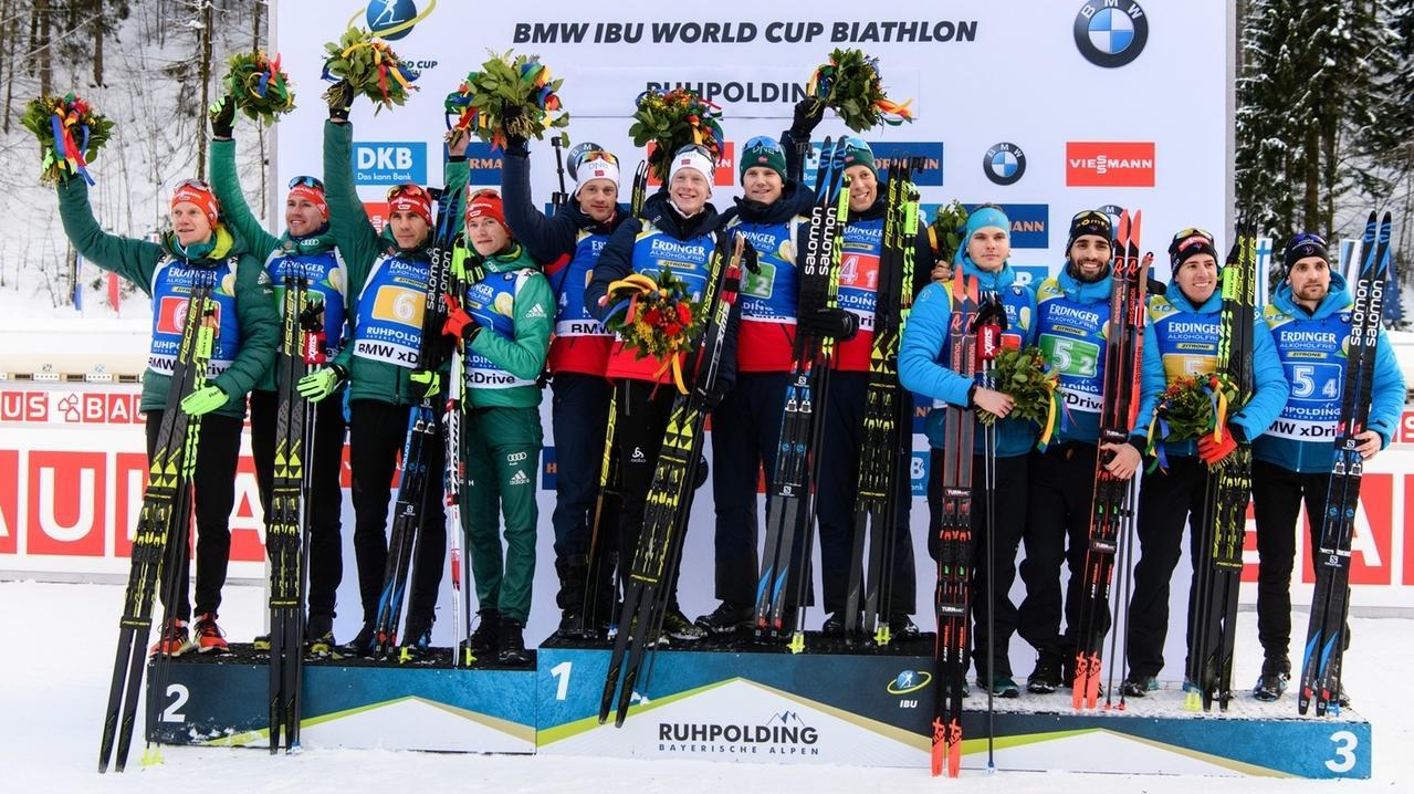 Biathlon-Weltcup Ruhpolding - Staffel Männer