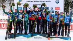 Biathlon-Weltcup Ruhpolding - Staffel Männer | Bild:dpa-Bildfunk/Matthias Balk