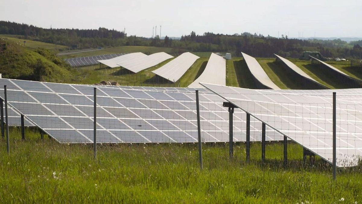 Ein Solarpark.