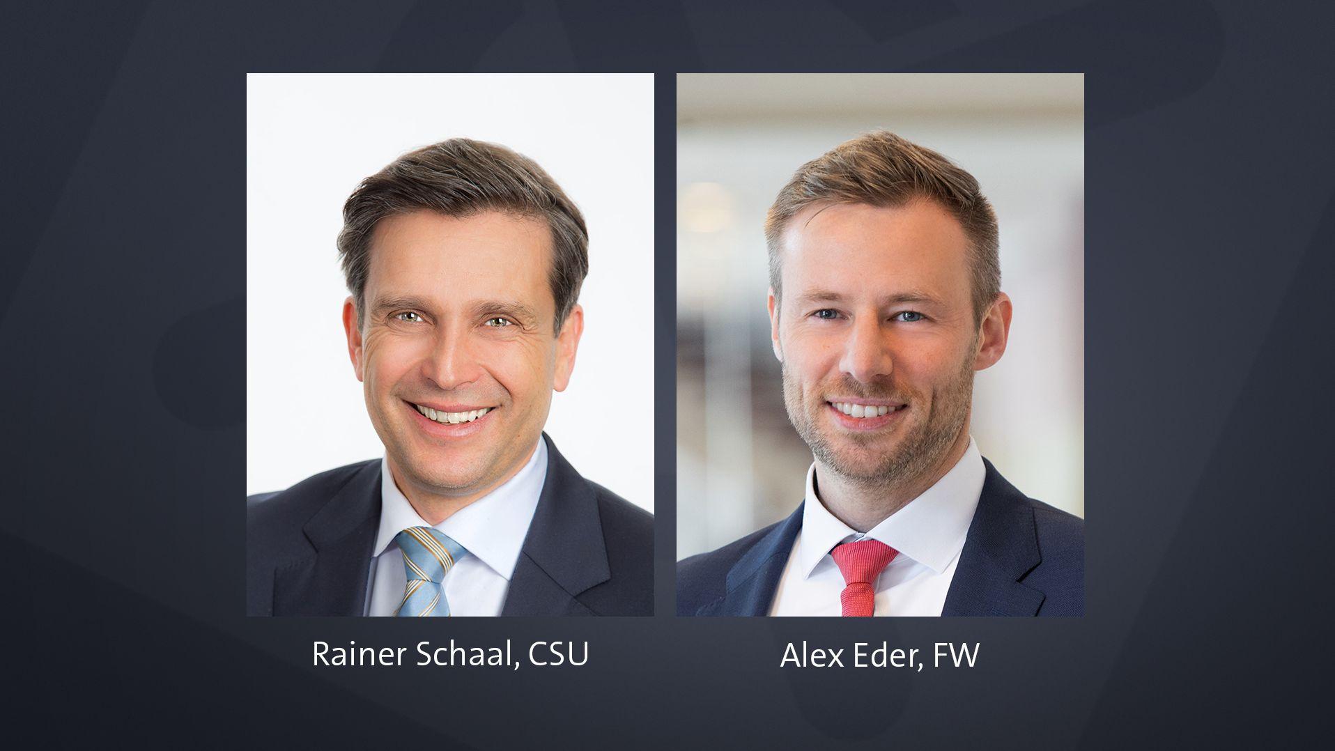 Die Stichwahlkandidaten im Unterallgäu: Rainer Schaal und Alex Eder.