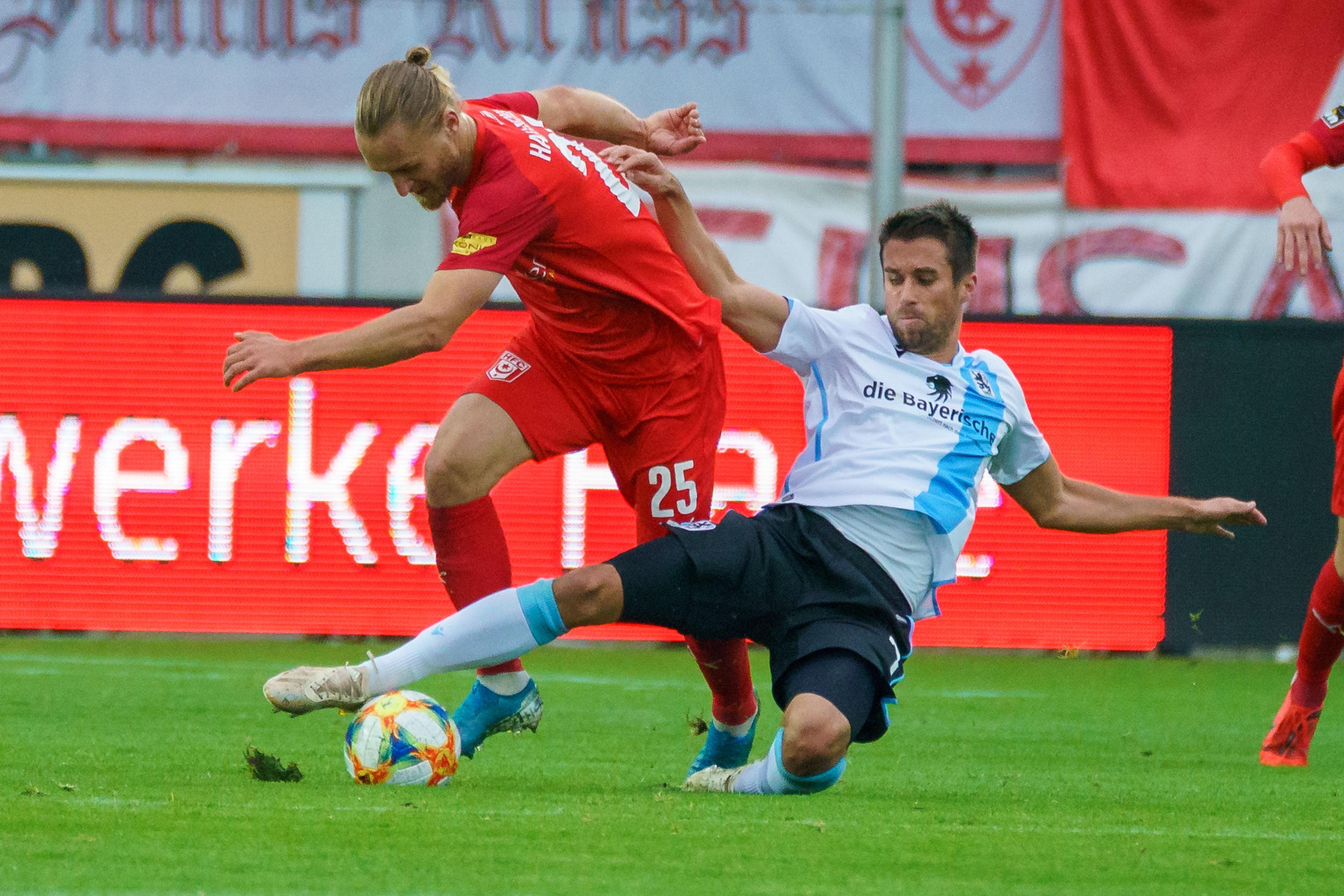 Spielszene Hallescher FC - TSV 1860 München