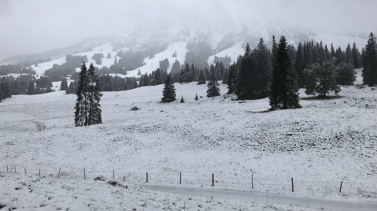 Schnee am Allgäuer Oberjoch