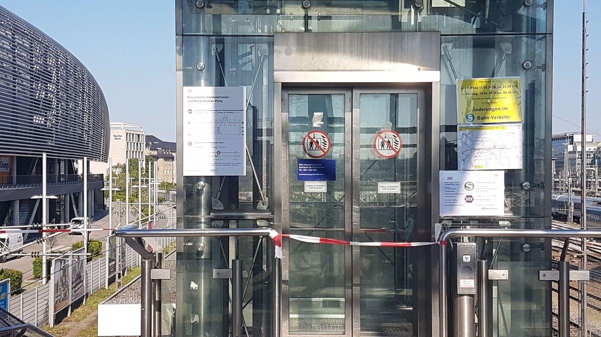 Stammstrecken-Sperrung an der Haltestelle Hackerbrücke.