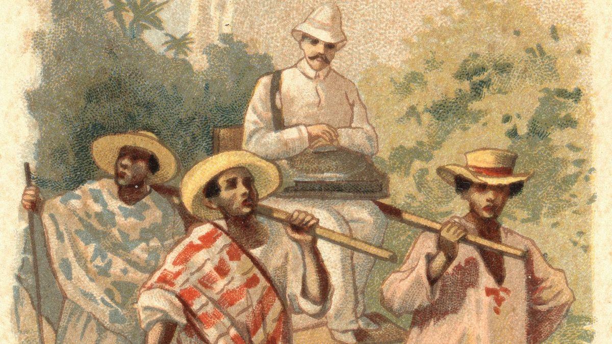Zeichnung aus Kolonialzeiten.