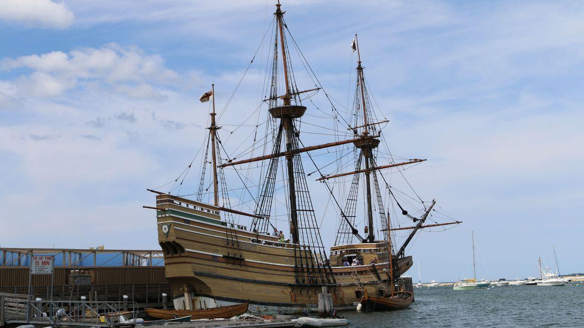 Die Mayflower II im Wasser, 2016.