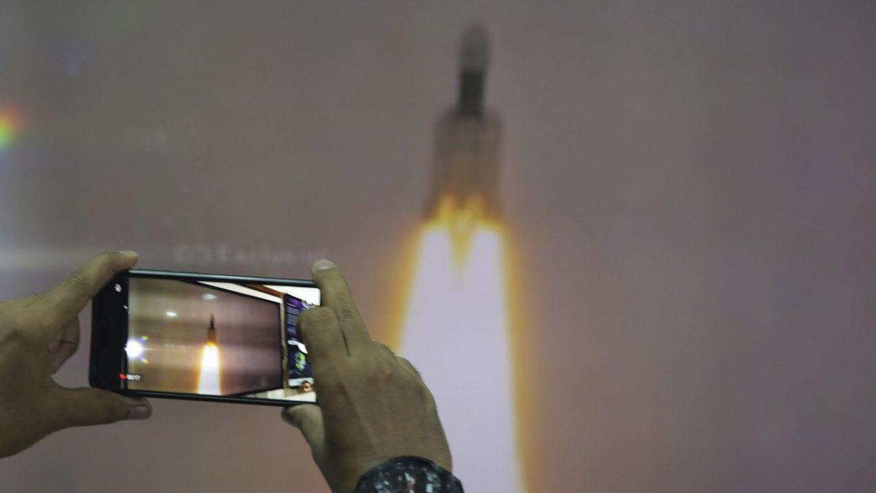 Am 22.7.2019 ist Indiens Mond-Sonde Chandrayaan-2 gestartet.