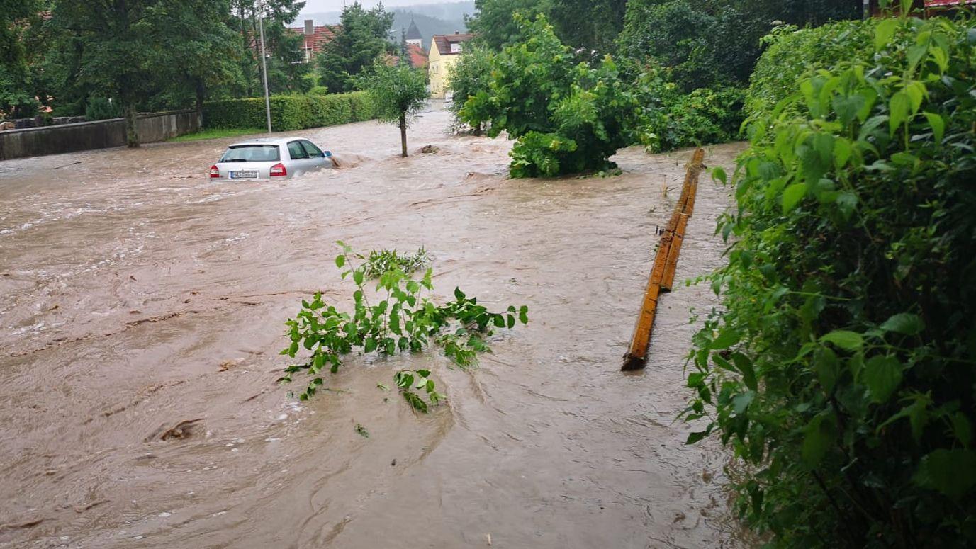 Hochwasser in Knetzgau