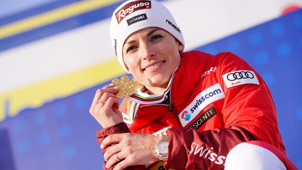 Skirennläuferin Lara Gut-Behrami aus der Schweiz