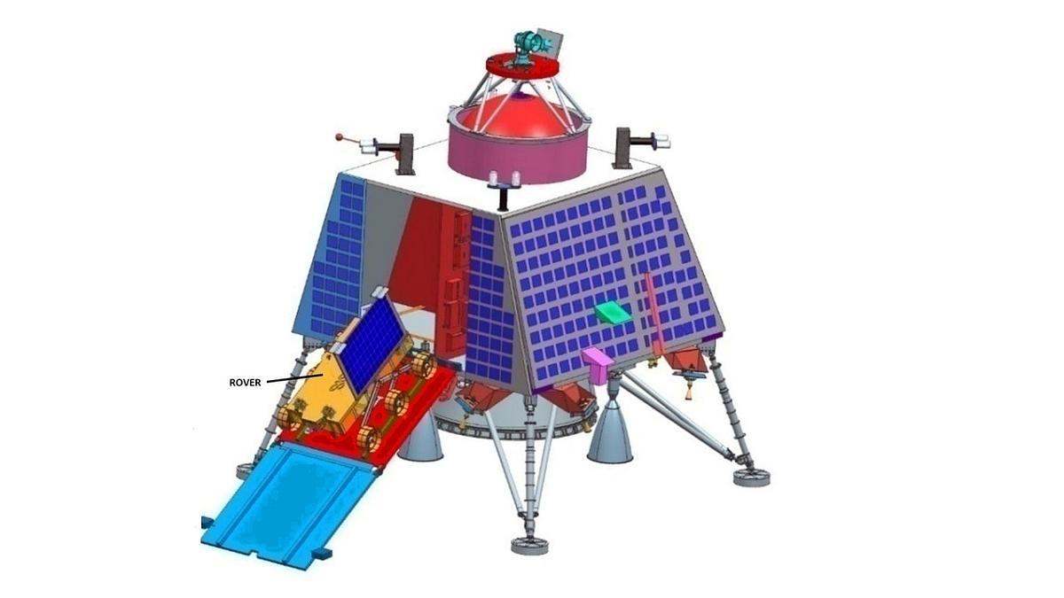 Landefähre der Mission Chandrayaan-2 (Modell)