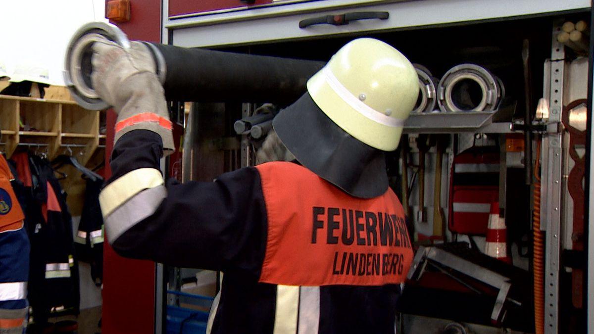 Feuerwehrmann in Lindenberg bei Buchloe