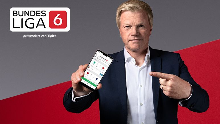 Oliver Kahn wirbt für das Tippspiel Bundesliga6 des Sportwetten-Anbieters Tipico.