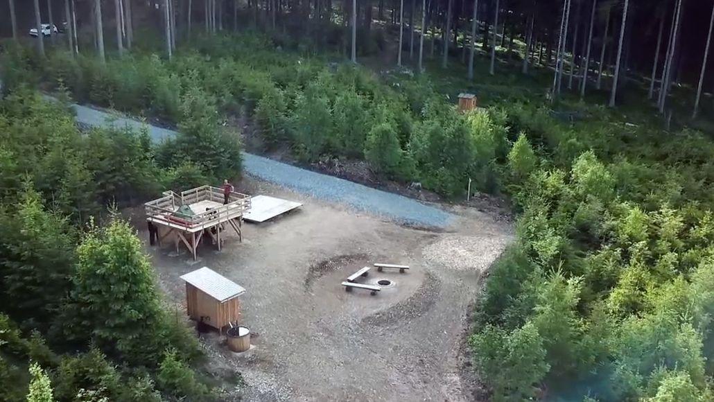 Trekkingplatz im Frankenwald