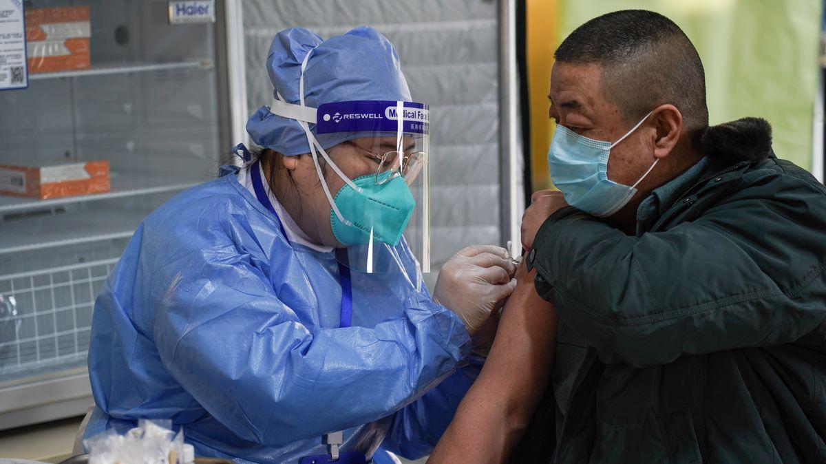 Corona-Impfung in Peking.