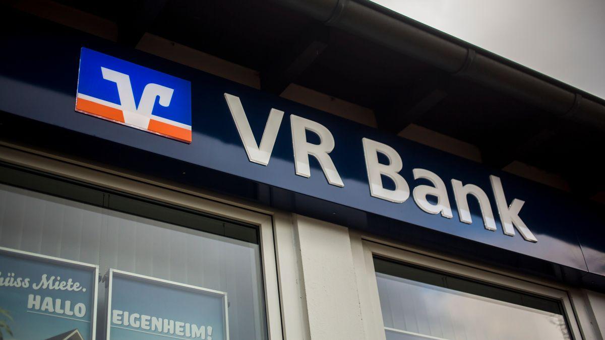 Das Logo einer VR Bank.