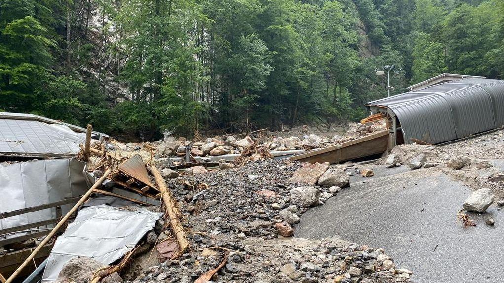 Die Bob- und Rodelbahn am Königssee wurde bei den Unwettern schwer beschädigt.