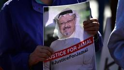 Demonstration in Washington wegen Verschwindens von Jamal Khashoggi | Bild:picture-alliance/dpa/newsroom/Kevin Deutsch