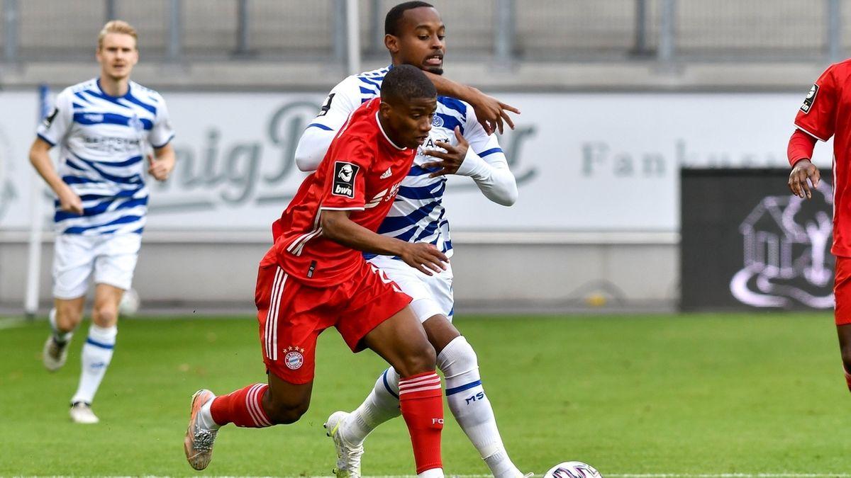 Spielszene MSV Duisburg - FC Bayern II