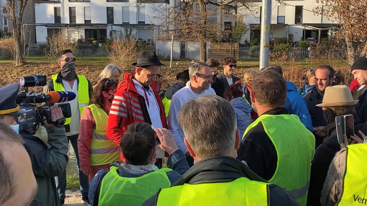 """Medienrummel um die """"Querdenken""""-Initiative auch in Rosenheim"""