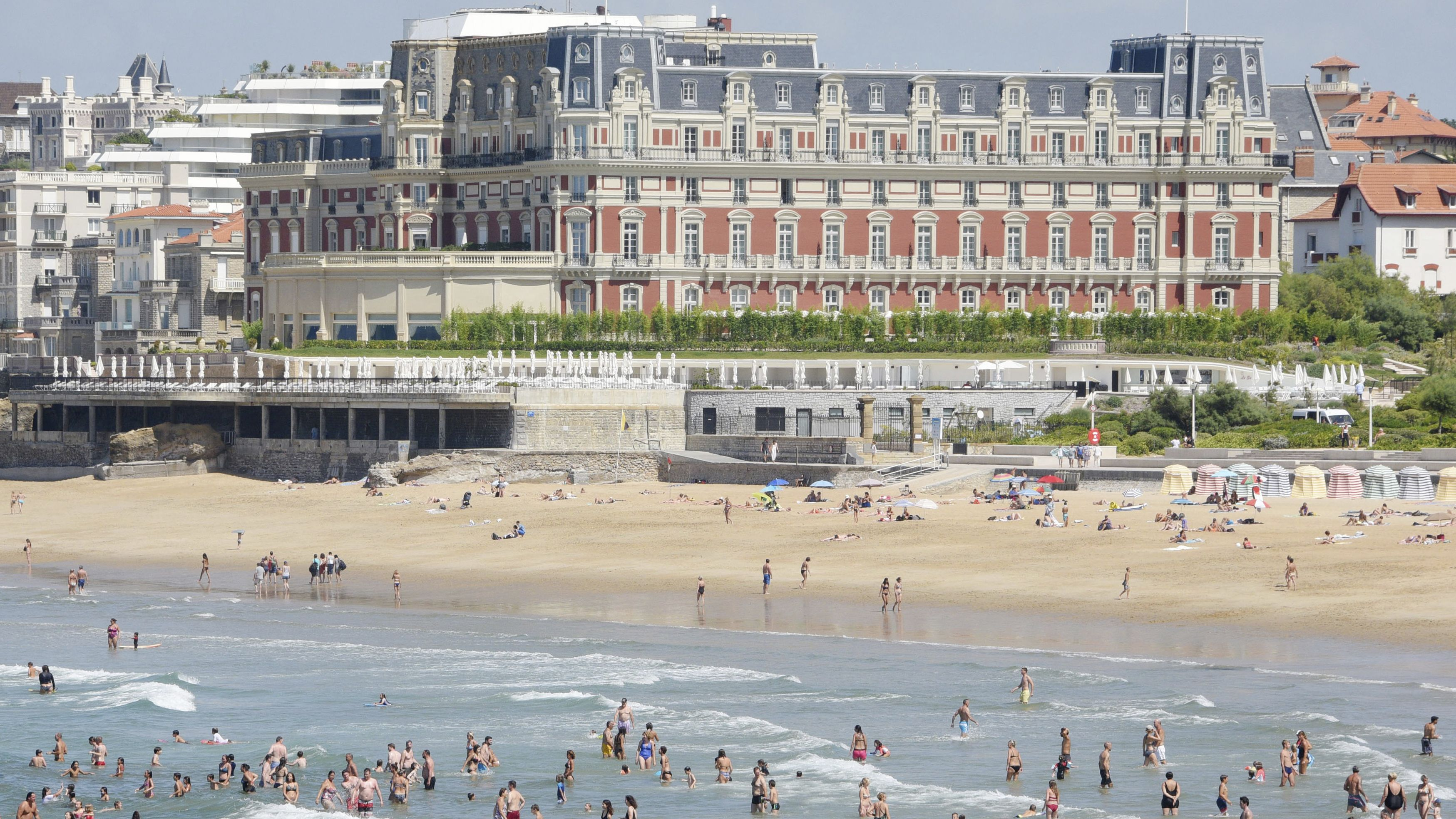 Ort des G7-Gipfeltreffens, das Hotel du Palais im südwestfranzösischen Biarritz