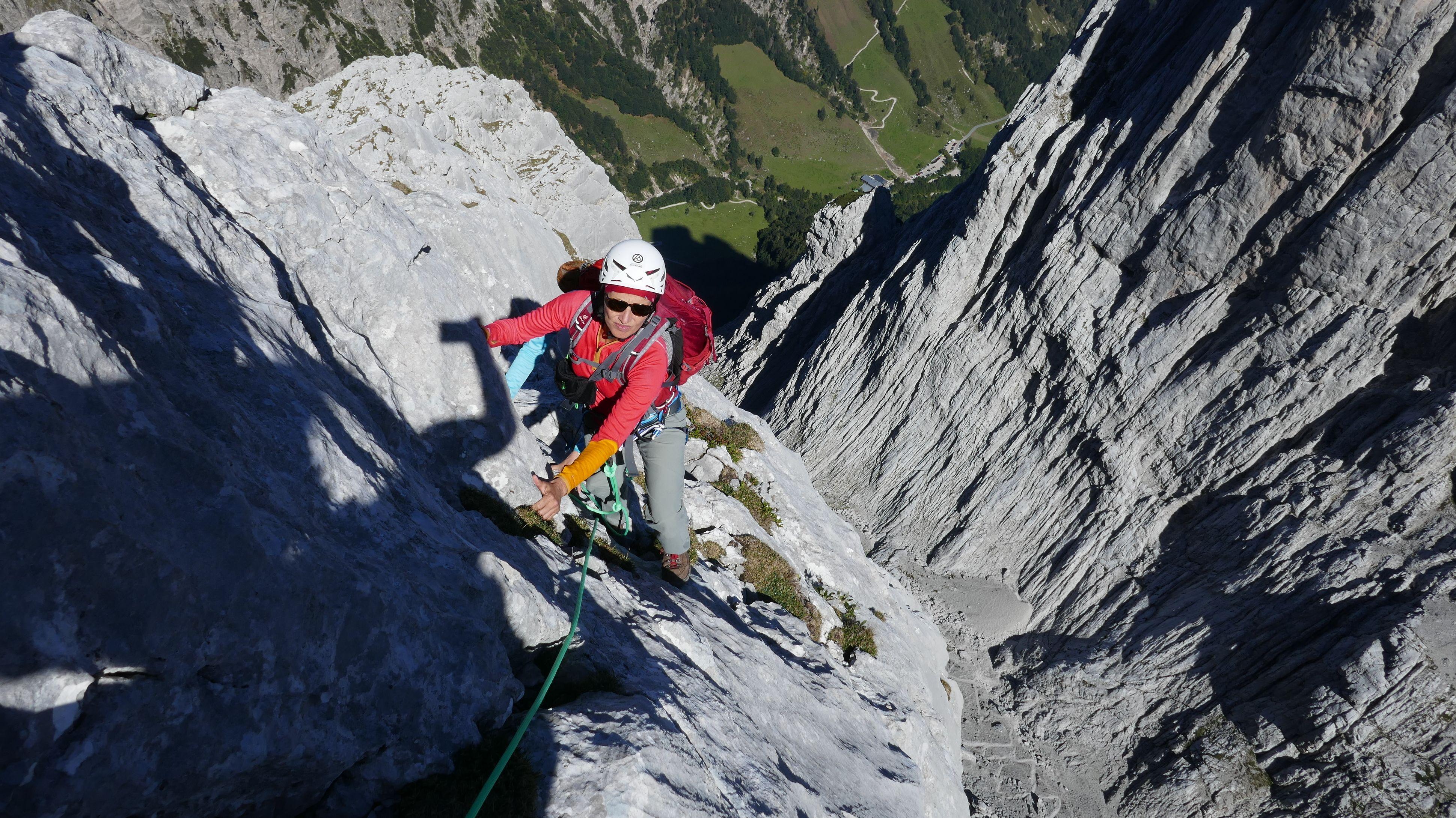 Konzentration auf den letzten Metern vor dem Gipfel