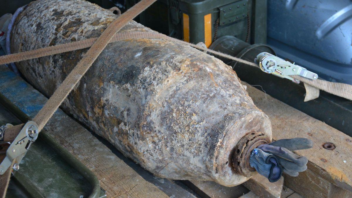 Die 135 Kilo schwere Bombe aus dem Zweiten Weltkrieg