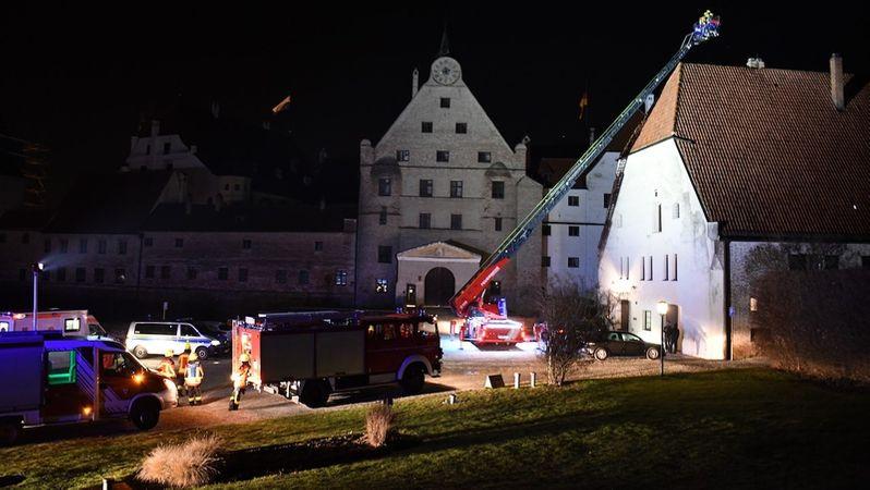 Kaminbrand Auf Landshuter Burg Trausnitz Br24