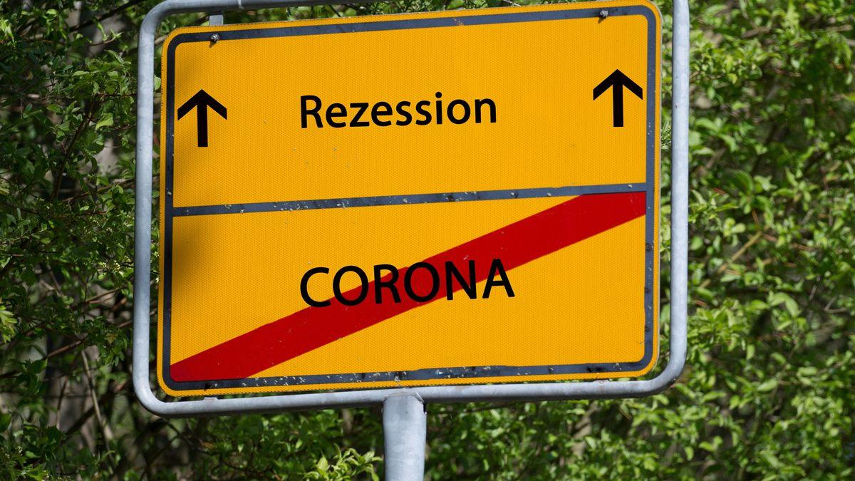 Symbolbild: Auf dem Weg in die Rezession