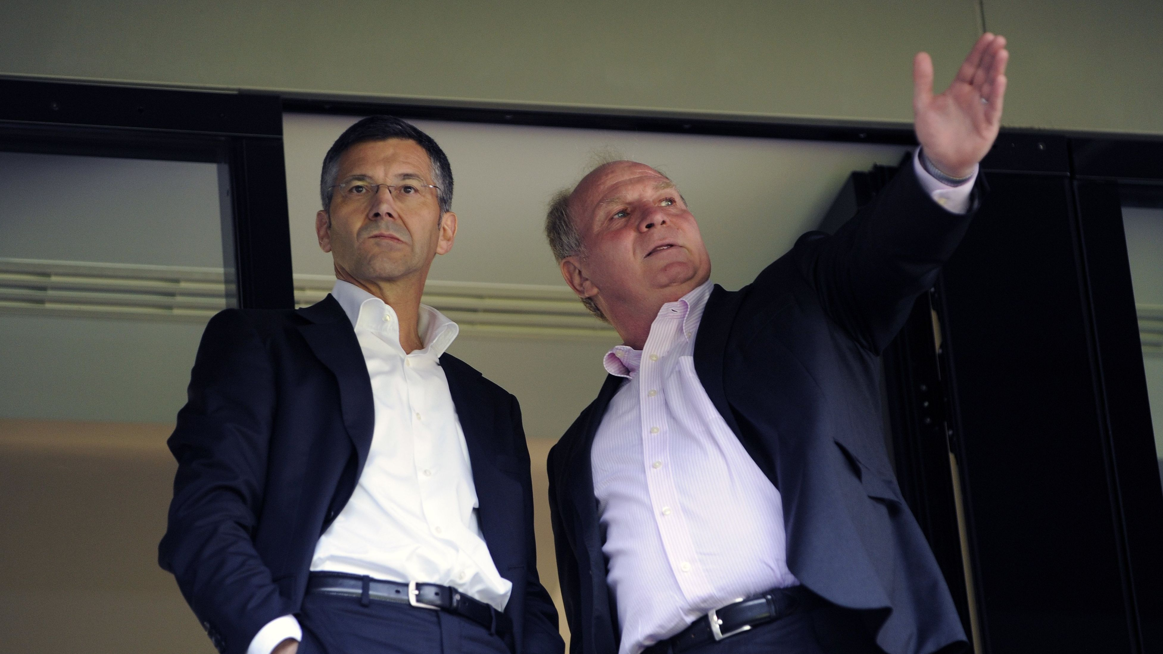 Herbert Hainer mit Uli Hoeneß