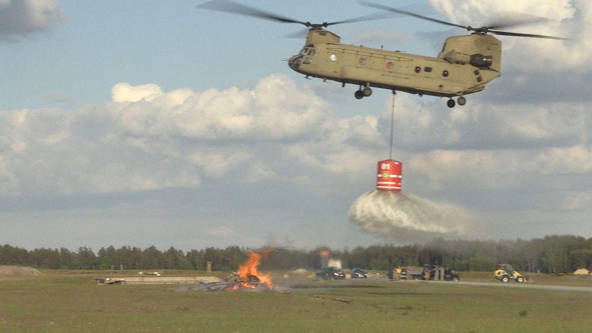 Waldbrandübung der US Armee.