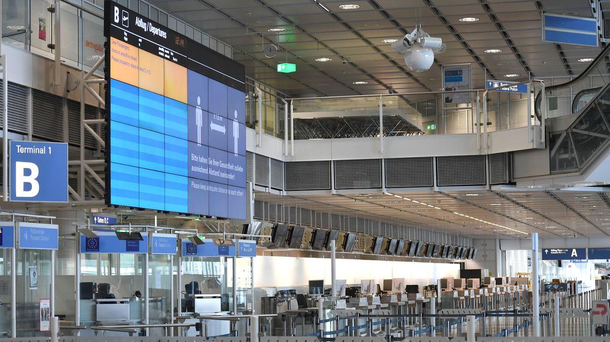 Leerer Flughafen München