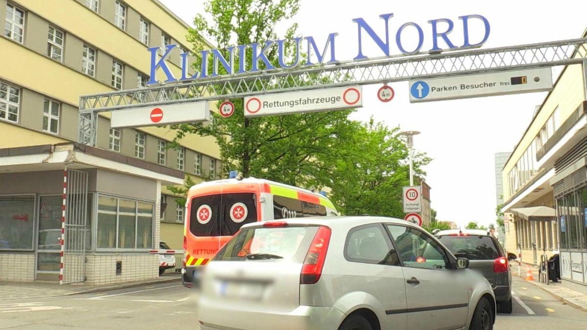 Einfahrt zum Klinikum Nürnberg Nord