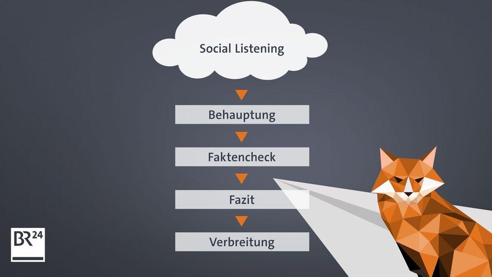 Der Faktenfuchs schöpft seine Themen aus dem Social Listening - er nimmt sich das vor, was die Menschen wirklich interessiert | Bild:BR24/Riedl