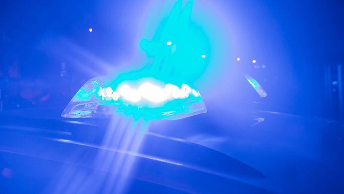 Blaulicht bei Nacht