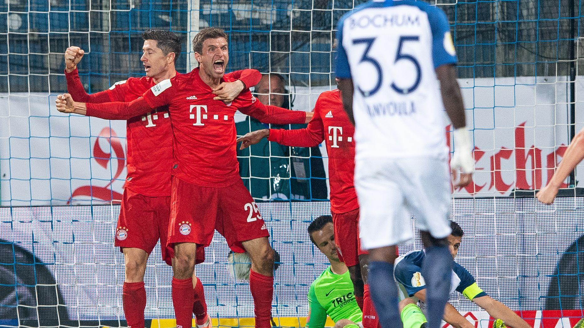 FC-Bayern-Jubel nach dem 2:1-Siegtreffer von Thomas Müller