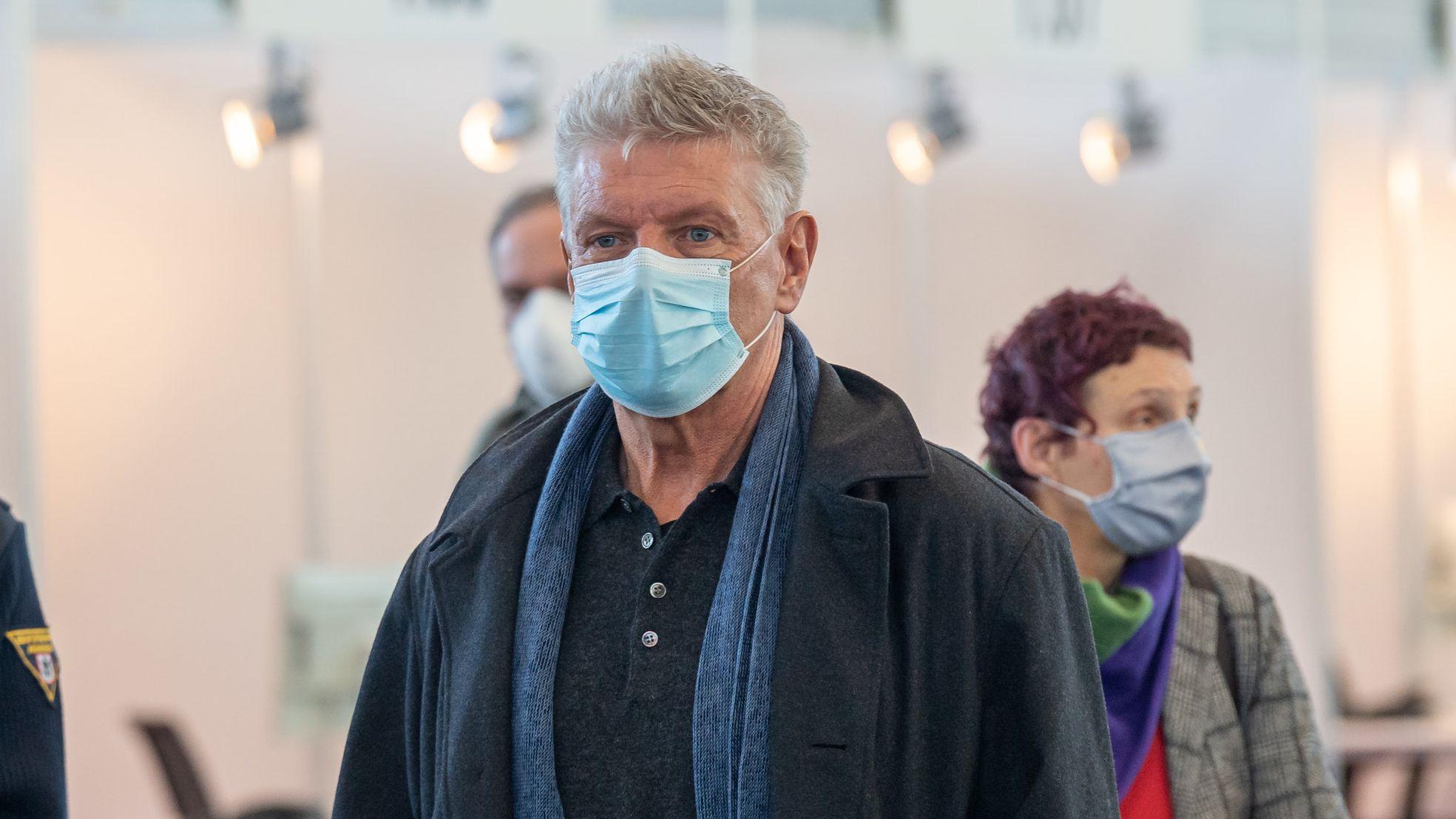 Oberbürgermeister Dieter Reiter und Beatrix Zurek, Gesundheitsreferentin der Stadt München, im Contact Tracing Center in der Messe Riem