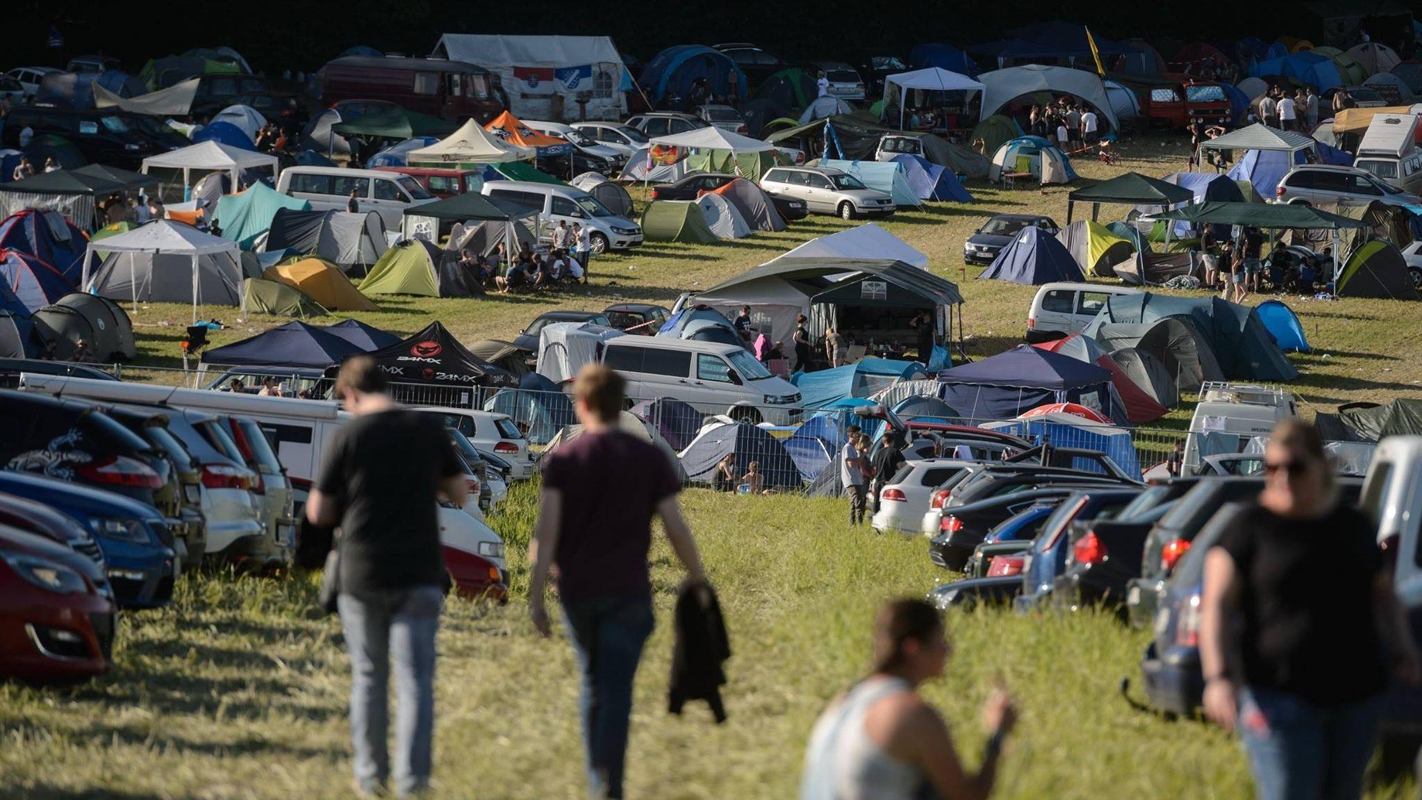 Campingplatz des Festivals