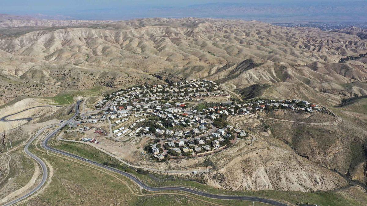 Eine jüdische Siedlungen im Westjordanland.