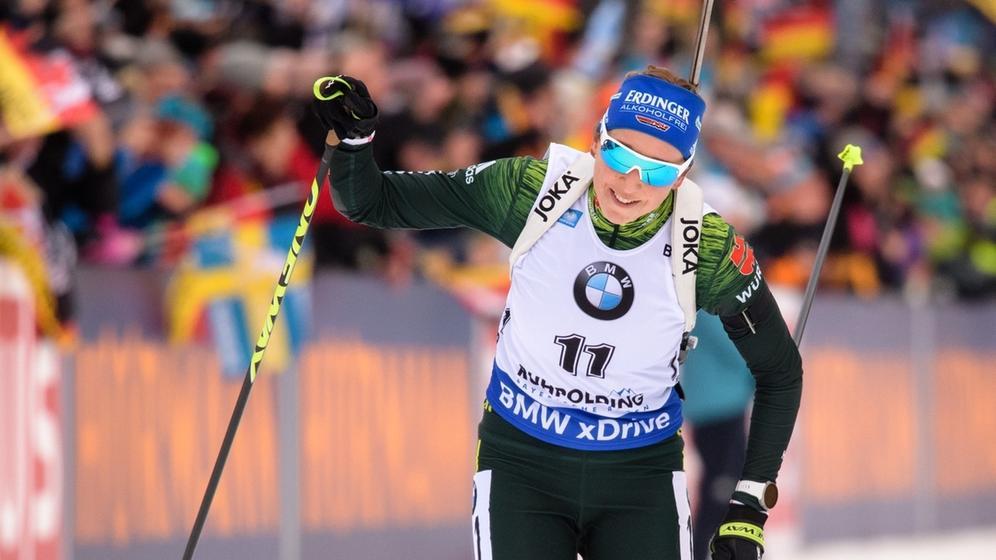 Biathlon-Weltcup Ruhpolding - Massenstart Frauen | Bild:dpa-Bildfunk/Matthias Balk