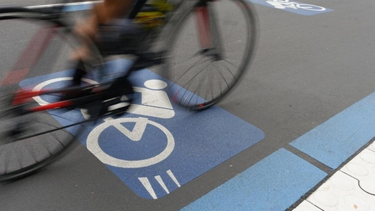 Symbolbild für einen Radschnellweg, wie München ihn bekommen soll