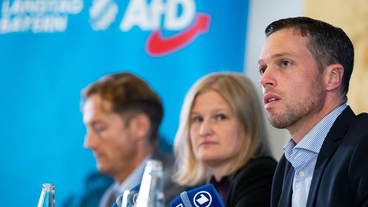 Foto von Pressekonferenz der AfD Landtagsfraktion
