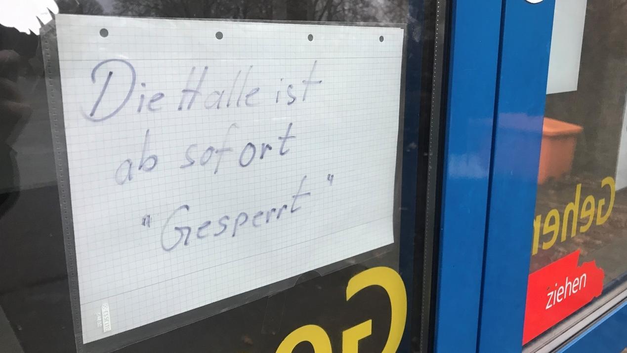 Die Schulturnhalle der Christoph-Probst-Realschule ist gesperrt