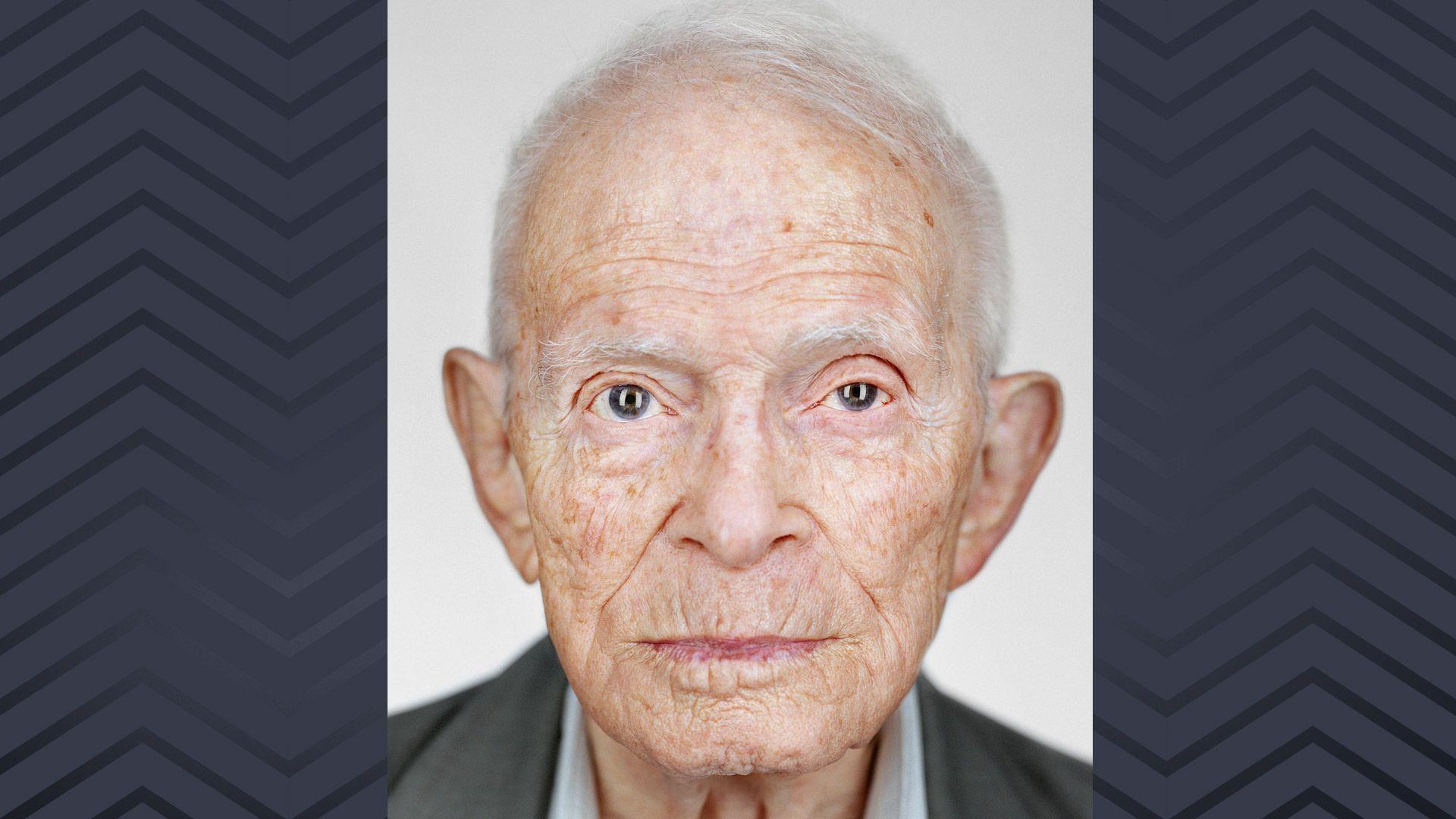 Porträtaufnahme des Holocaust-Überlebenden Moshe Ha-Elion