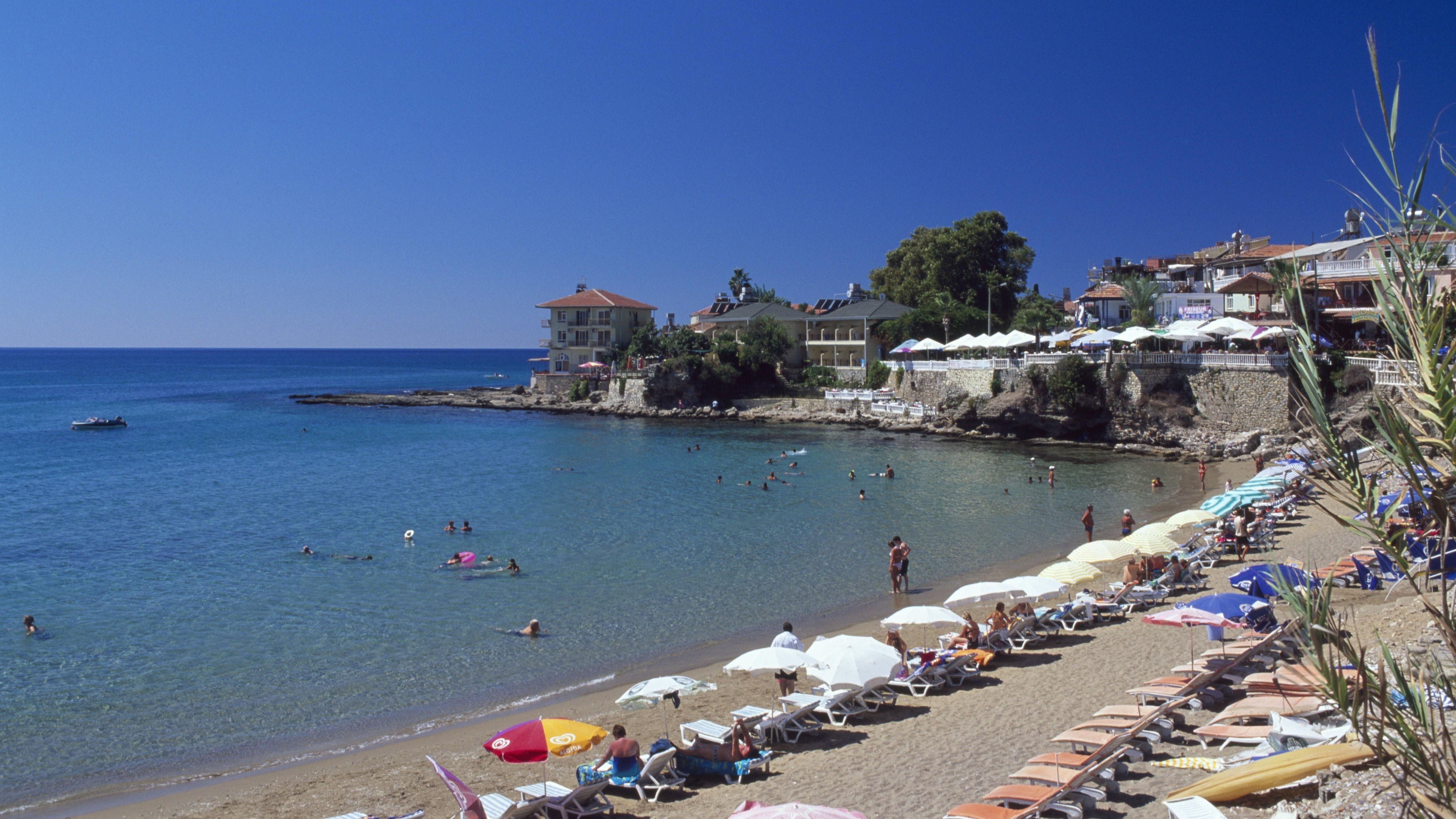 Strand von Side, Türkische Riviera
