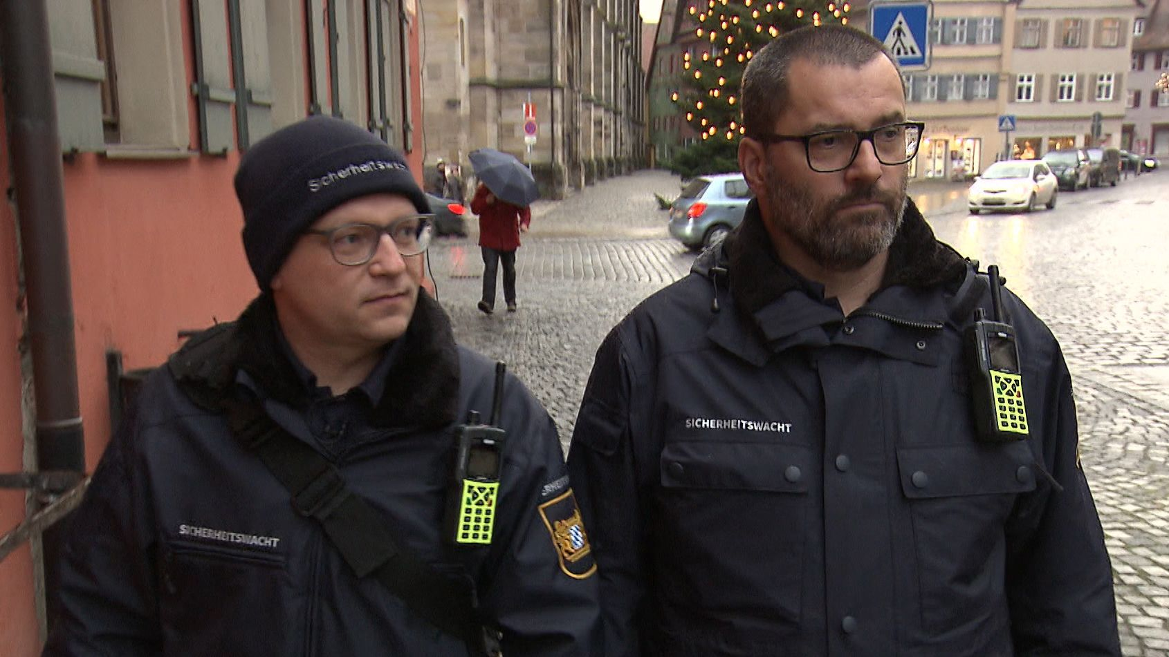 Mitglieder der Sicherheitswacht in Dinkelsbühl